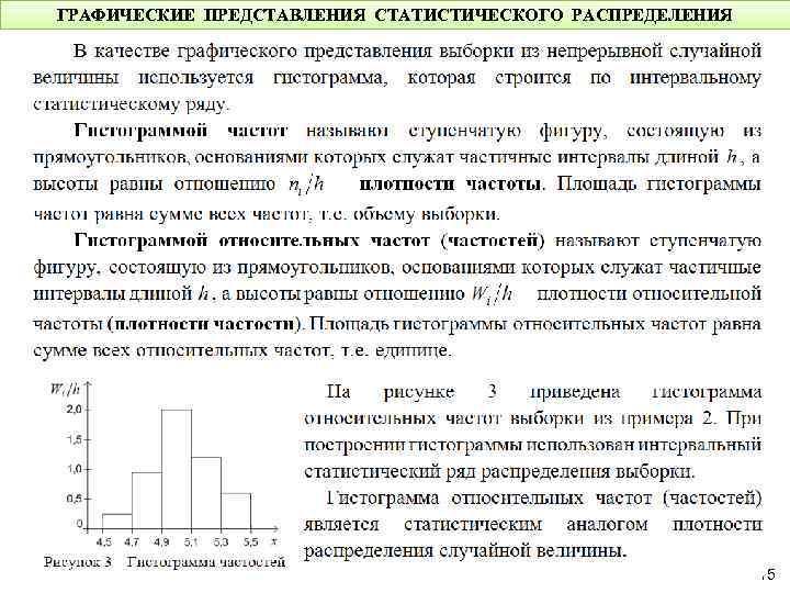 рядов графическое шпаргалки распределения изображение их и понятие