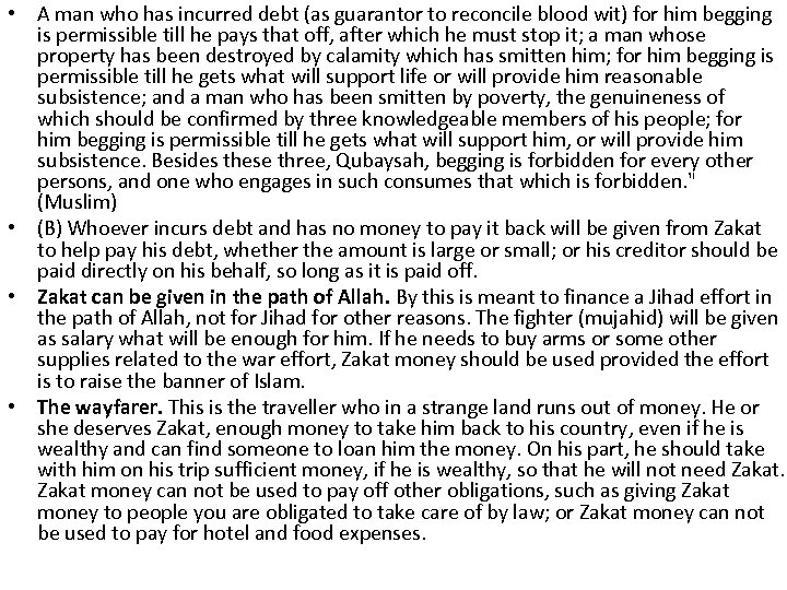 • A man who has incurred debt (as guarantor to reconcile blood wit)
