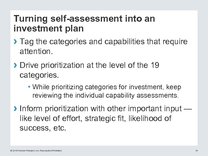Turning self-assessment into an investment plan › Tag the categories and capabilities that require