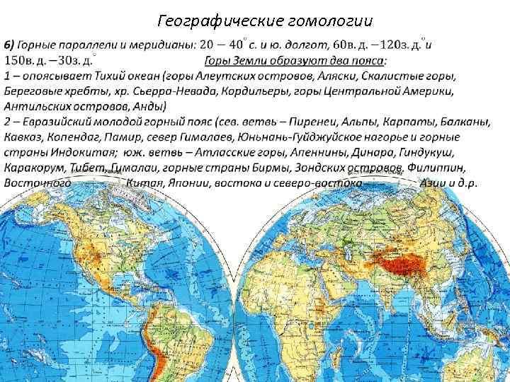 Географические гомологии