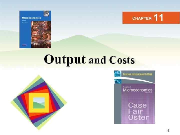 CHAPTER 11 Output and Costs Business Microeconomics Instructor: Gulnara Moldasheva 1