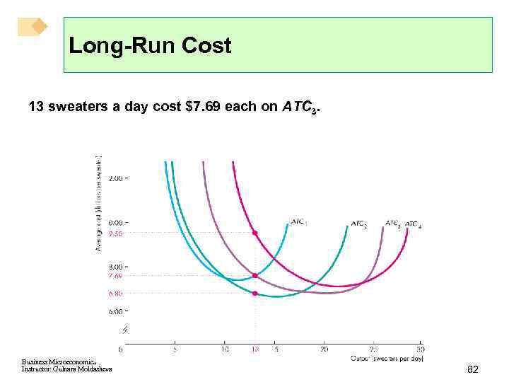 Long-Run Cost 13 sweaters a day cost $7. 69 each on ATC 3. Business