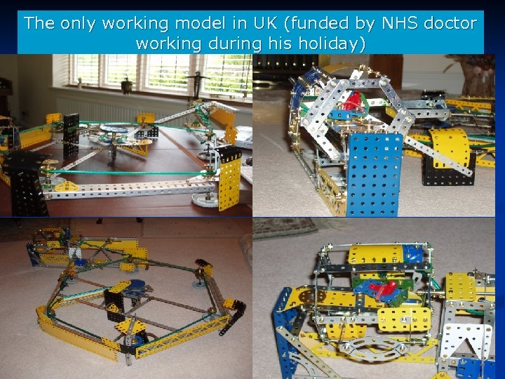 The only working model in UK (funded by NHS doctor working during his holiday)