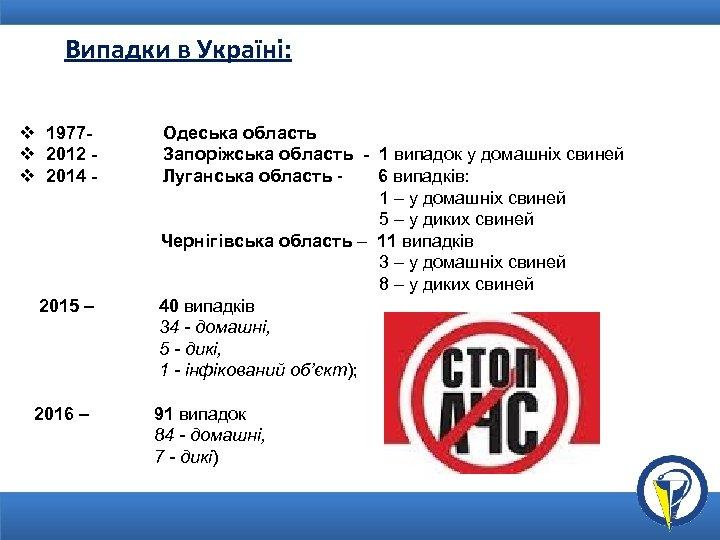 Випадки в Україні: v 1977 Одеська область v 2012 Запоріжська область - 1 випадок