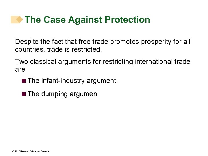 The Case Against Protection Despite the fact that free trade promotes prosperity for all