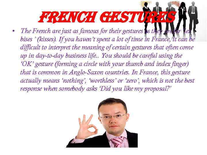 french gestures • The French are just as famous for their gestures as they