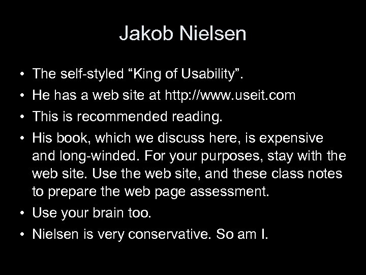 """Jakob Nielsen • • The self-styled """"King of Usability"""". He has a web site"""
