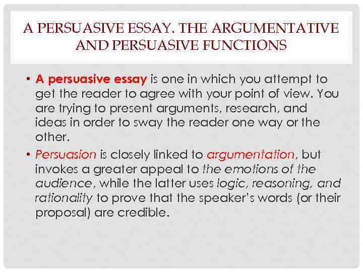 logical appeal persuasive essay The fallacy of nonsense essay 1906 words | 8 pages the fallacy of nonsense lewis carroll was a professor of logic, writing among his well known works of fiction, treatises on the subject of logic and even a textbook, symbolic logic.
