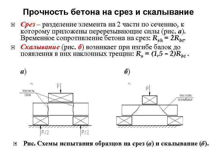 прочность бетона на изгиб