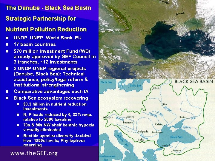 The Danube - Black Sea Basin Strategic Partnership for Nutrient Pollution Reduction n n