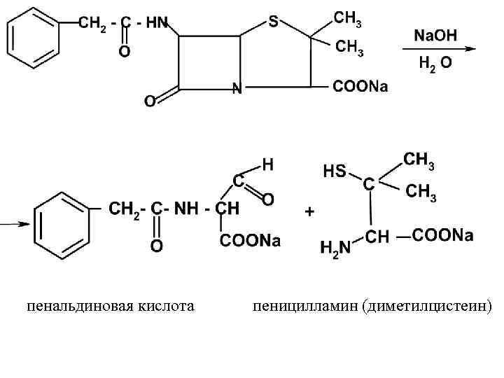 пенальдиновая кислота пеницилламин (диметилцистеин)
