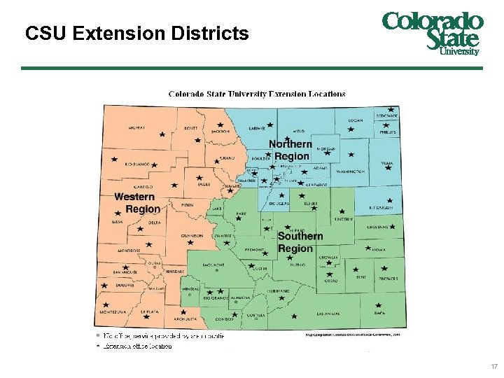 CSU Extension Districts 17