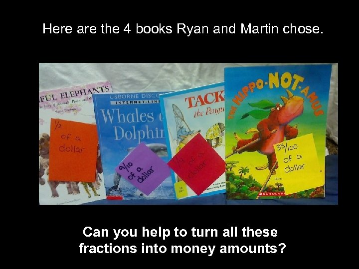 Here are the 4 books Ryan and Martin chose. Can you help to turn