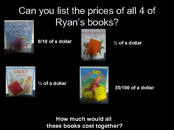 Can you list the prices of all 4 of Ryan's books? 9/10 of a