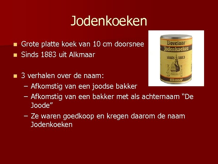 Jodenkoeken Grote platte koek van 10 cm doorsnee n Sinds 1883 uit Alkmaar n