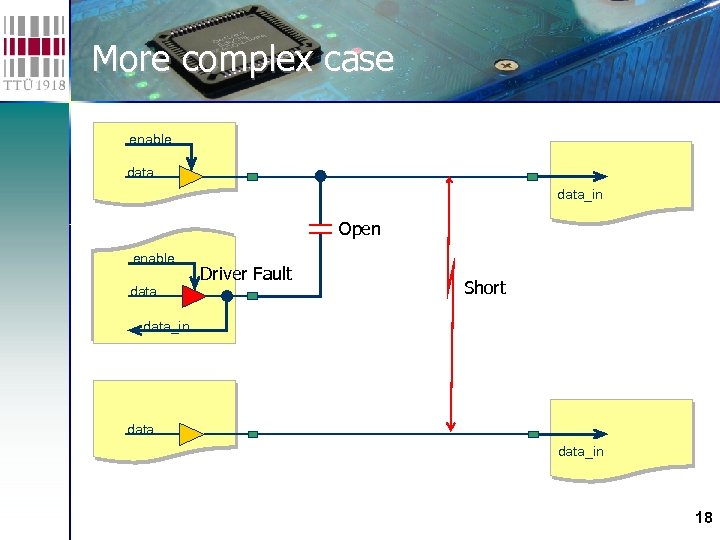 More complex case enable data_in Open enable data Driver Fault Short data_in 18