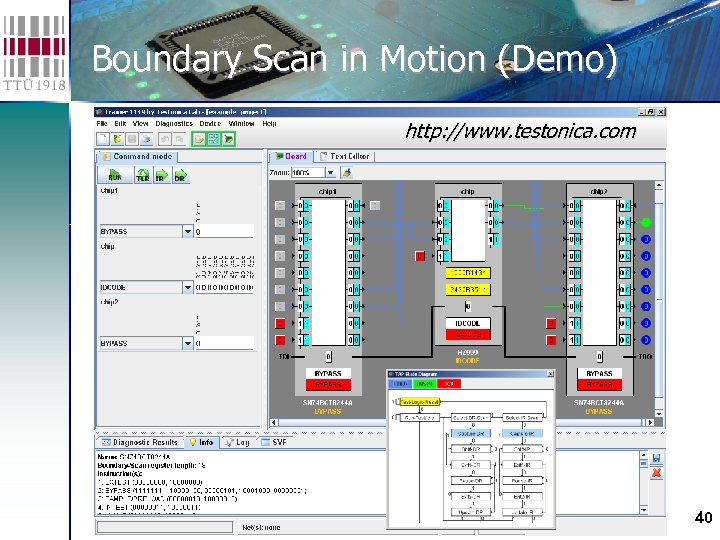Boundary Scan in Motion (Demo) http: //www. testonica. com 40