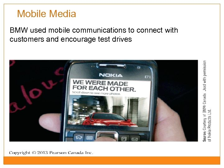 Mobile Media BMW used mobile communications to connect with customers and encourage test drives