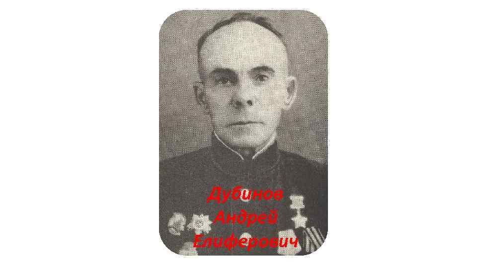 Дубинов Андрей Елиферович