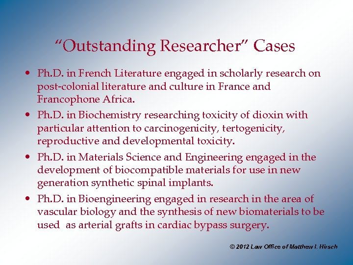 """Outstanding Researcher"" Cases • Ph. D. in French Literature engaged in scholarly research on"