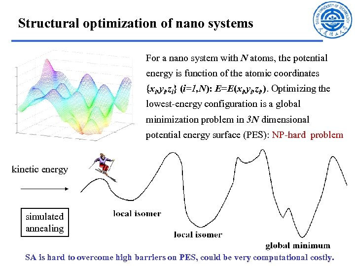 Structural optimization of nano systems For a nano system with N atoms, the potential
