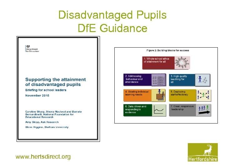 Disadvantaged Pupils Df. E Guidance www. hertsdirect. org
