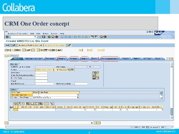 CRM One Order concept