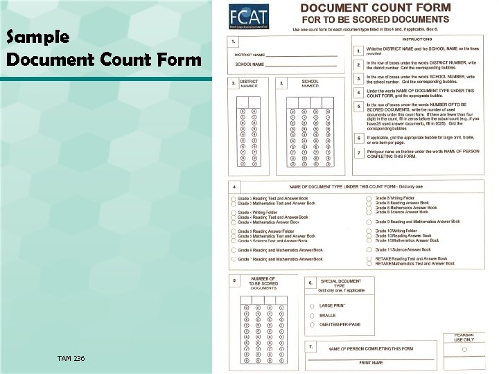 Sample Document Count Form TAM 236 56