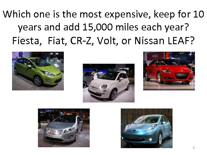 Which one is the most expensive, keep for 10 years and add 15, 000