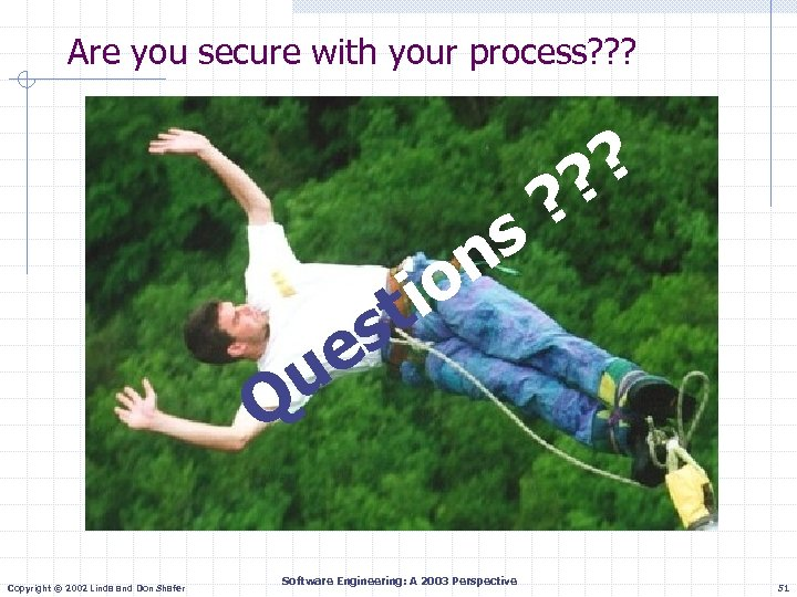 Are you secure with your process? ? ? s n o ? ? ?
