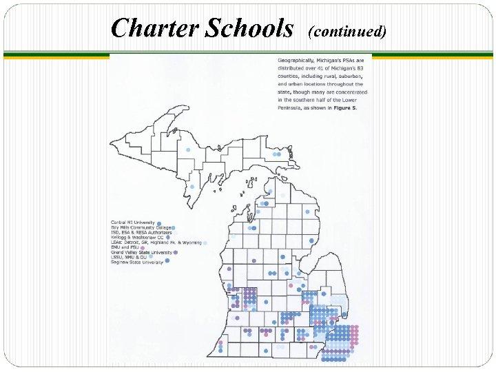 Charter Schools (continued)