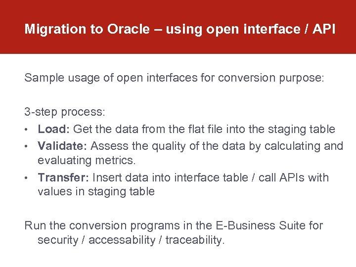 Data Migration in Oracle E-Business Suite OAUG Paris