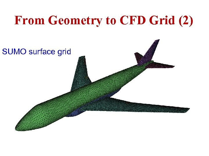 From Geometry to CFD Grid (2) SUMO surface grid ICAS Paper no. 282 Nice,