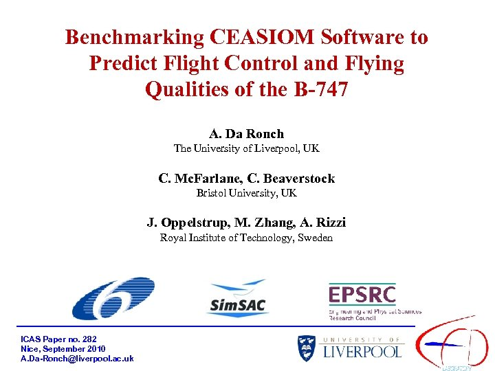 Benchmarking CEASIOM Software to Predict Flight Control and Flying Qualities of the B-747 A.