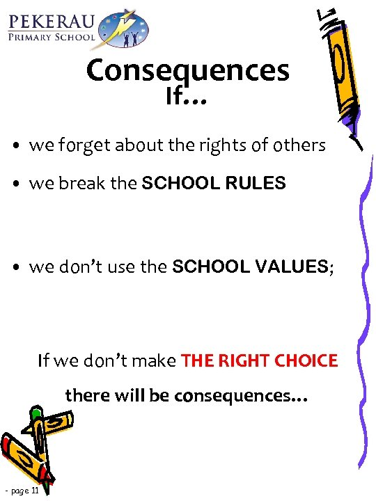 Consequences If… • we forget about the rights of others • we break the