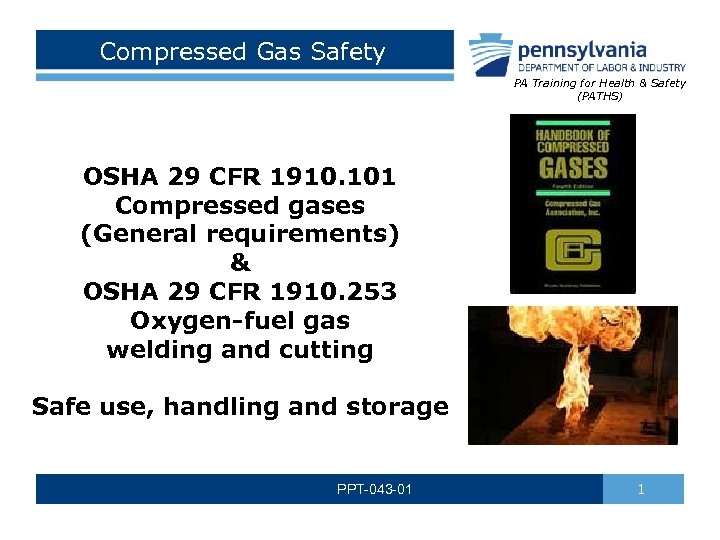 Compressed Gas Safety PA Training for Health & Safety (PATHS) OSHA 29 CFR 1910.