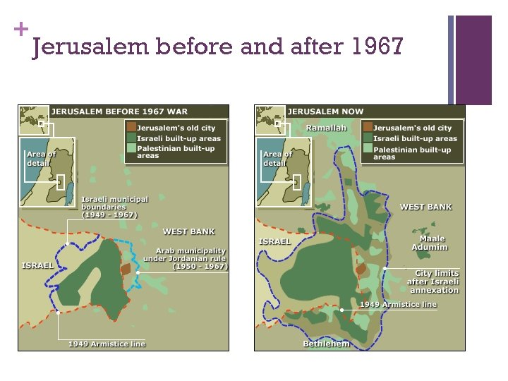 + Jerusalem before and after 1967