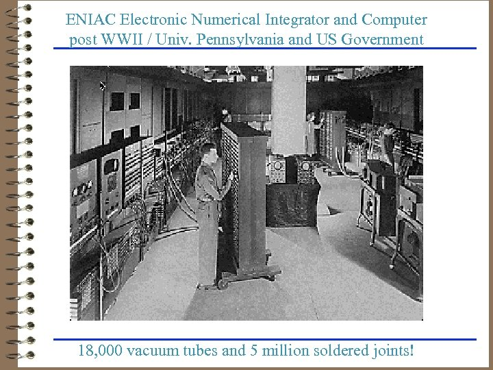 ENIAC Electronic Numerical Integrator and Computer post WWII / Univ. Pennsylvania and US Government