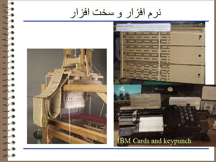 ﻧﺮﻡ ﺍﻓﺰﺍﺭ ﻭ ﺳﺨﺖ ﺍﻓﺰﺍﺭ IBM Cards and keypunch