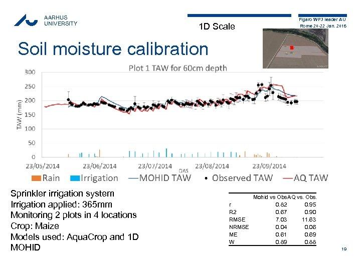 AARHUS UNIVERSITY 1 D Scale Figaro WP 3 leader AU Rome 20 -22 Jan.
