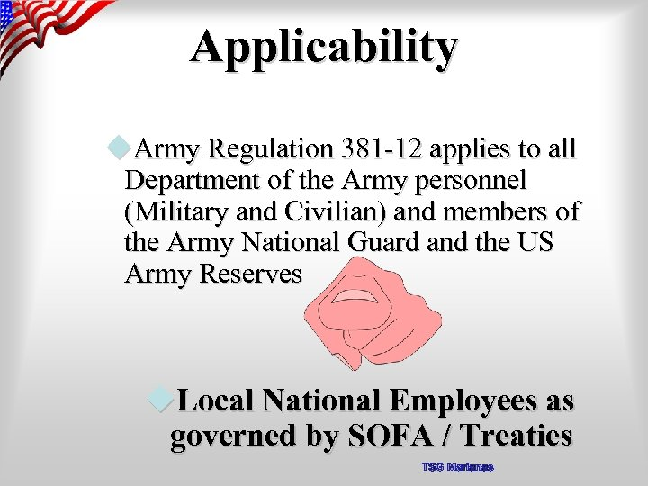 Applicability u. Army Regulation 381 -12 applies to all Department of the Army personnel