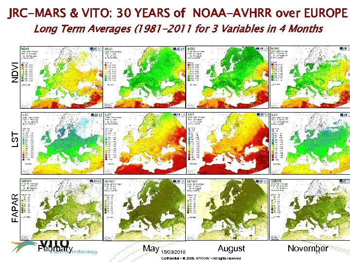 JRC-MARS & VITO: 30 YEARS of NOAA-AVHRR over EUROPE FAPAR LST NDVI Long Term