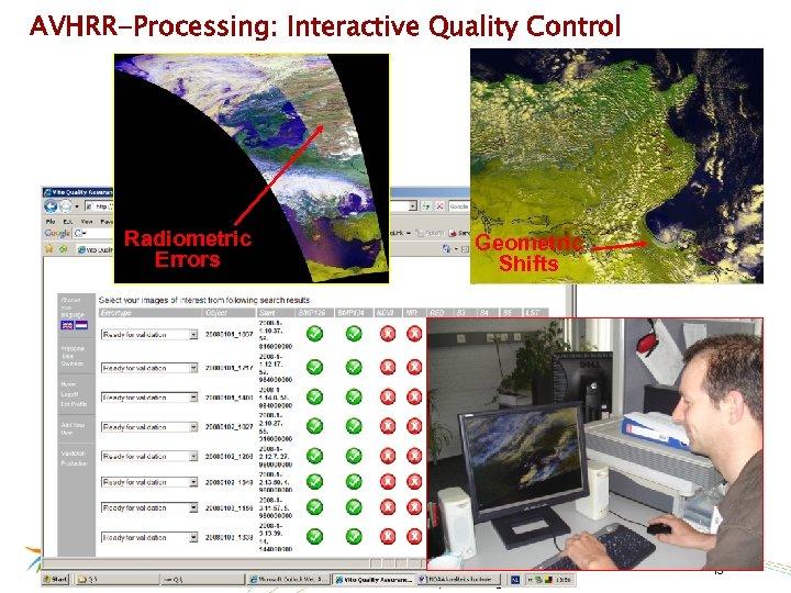 AVHRR-Processing: Interactive Quality Control Radiometric Errors Geometric Shifts 15/03/2018 Confidential – © 2009, VITO