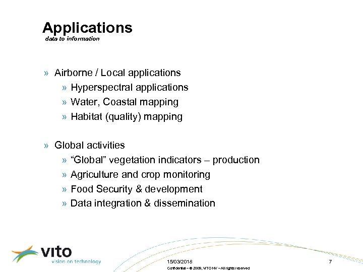 Applications data to information » Airborne / Local applications » Hyperspectral applications » Water,
