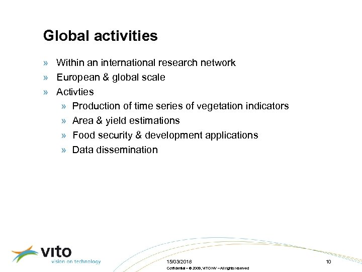 Global activities » Within an international research network » European & global scale »