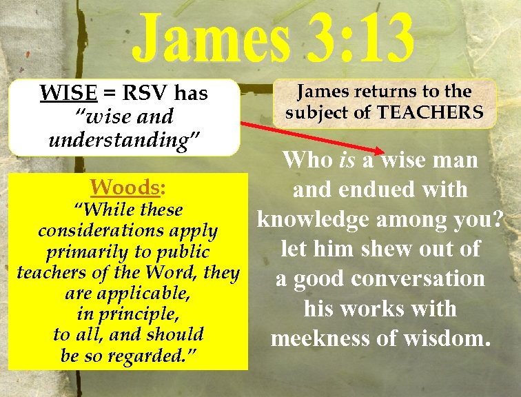 "WISE = RSV has ""wise and understanding"" Woods: ""While these considerations apply primarily to"