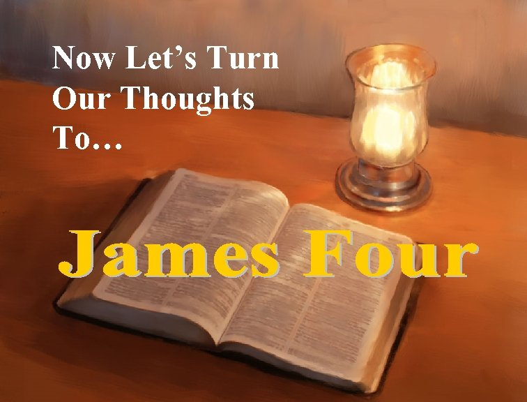 Now Let's Turn Our Thoughts To…