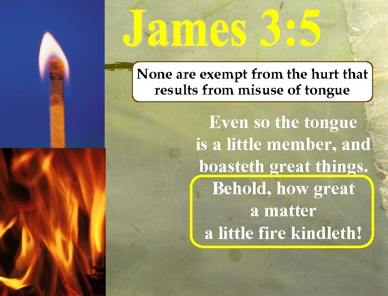 None are exempt from the hurt that results from misuse of tongue Even so