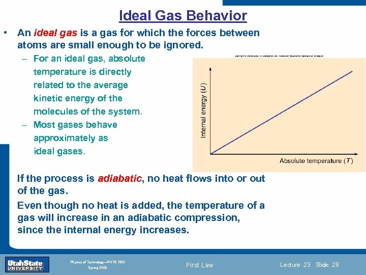 Ideal Gas Behavior • An ideal gas is a gas for which the forces