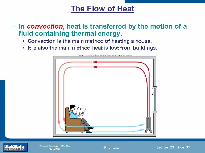 The Flow of Heat – In convection, heat is transferred by the motion of